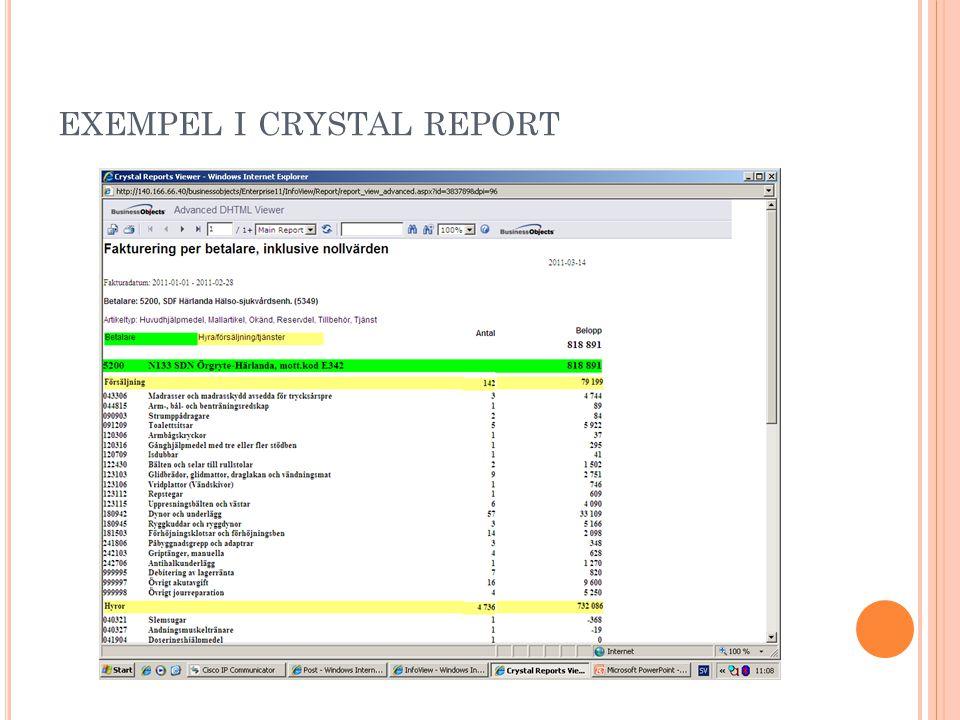 exempel i crystal report