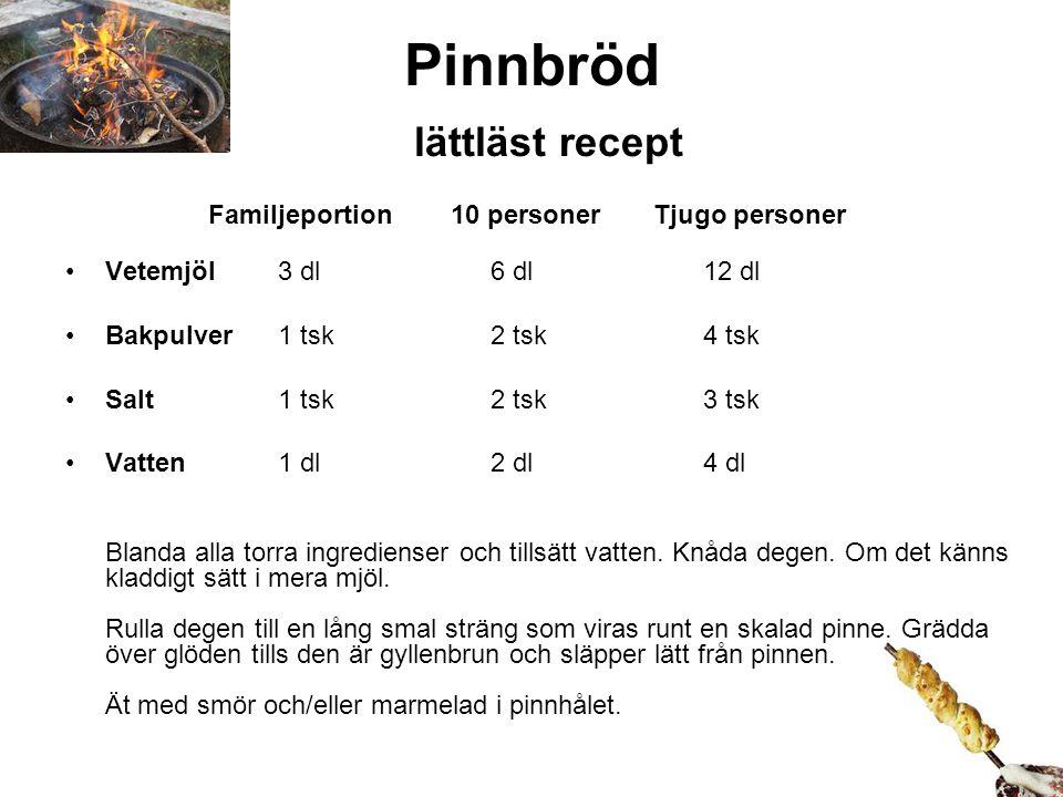 Pinnbröd lättläst recept