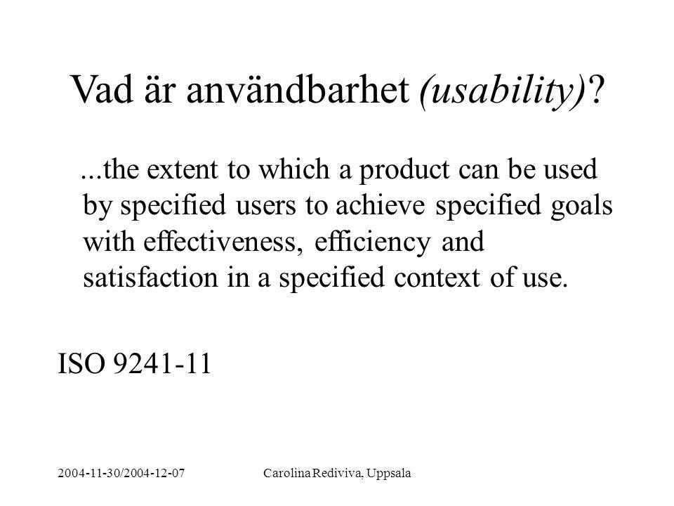 Vad är användbarhet (usability)