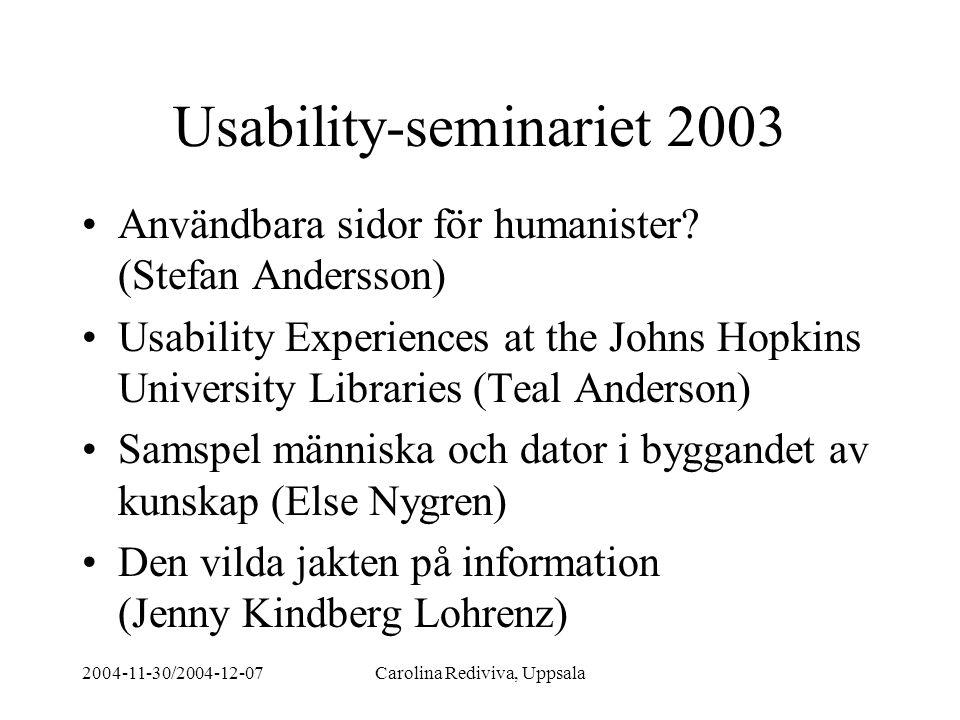 Usability-seminariet 2003