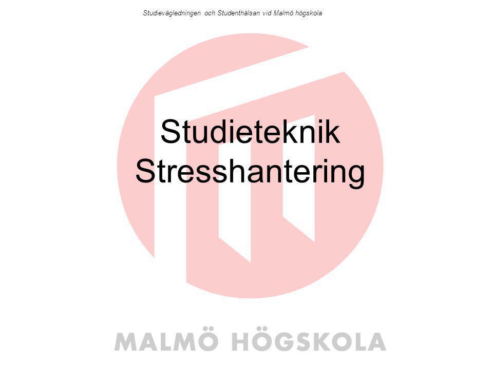 Studieteknik Stresshantering
