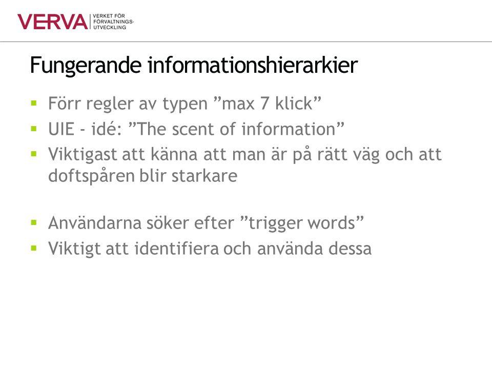 Fungerande informationshierarkier