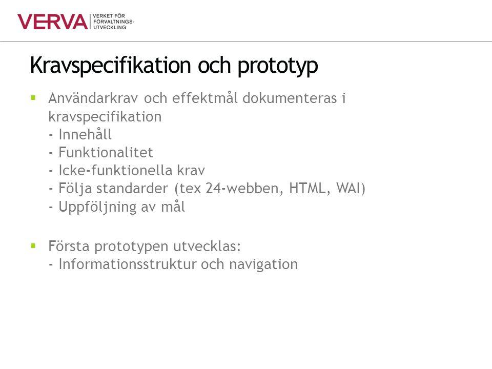 Kravspecifikation och prototyp