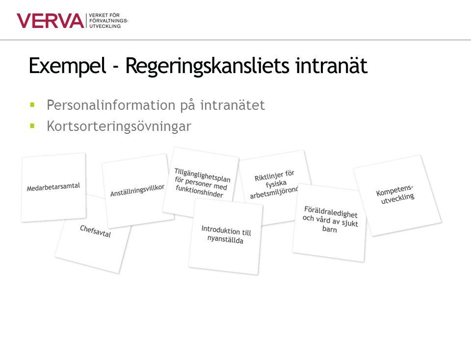 Exempel - Regeringskansliets intranät