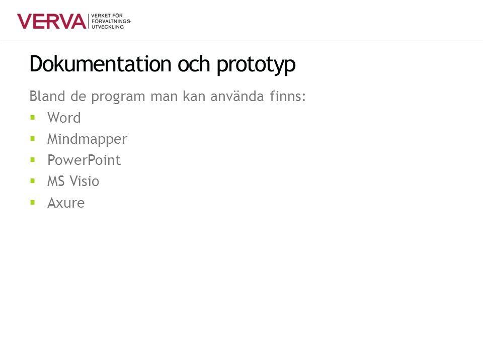 Dokumentation och prototyp