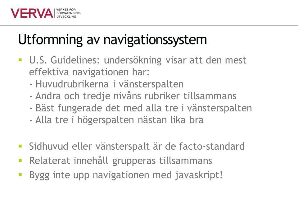 Utformning av navigationssystem