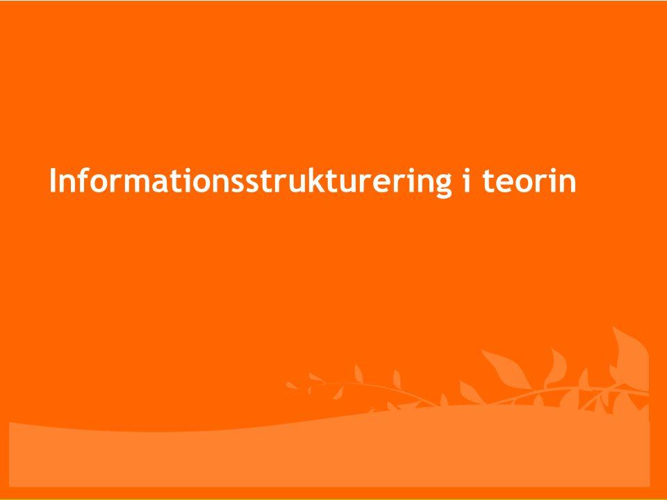 Informationsstrukturering i teorin