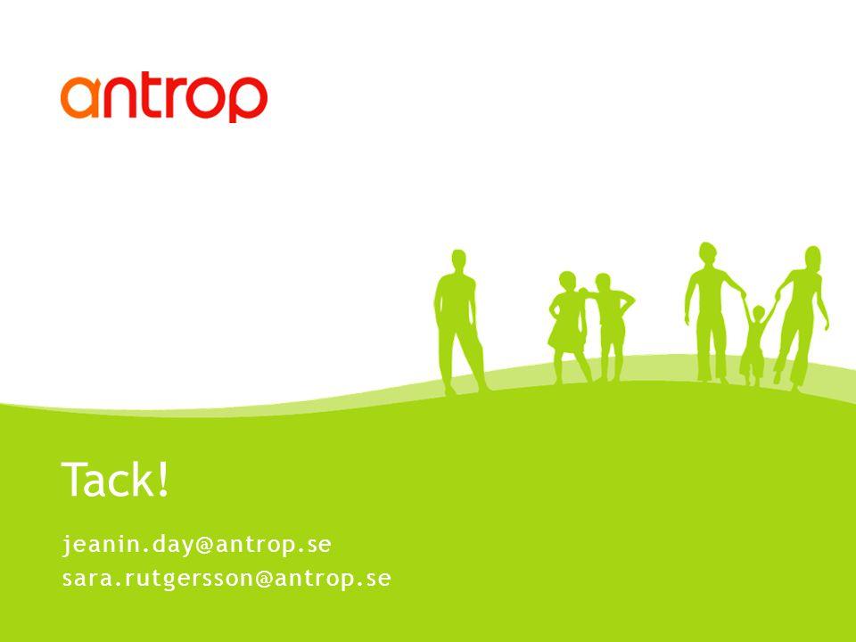 Tack! jeanin.day@antrop.se sara.rutgersson@antrop.se