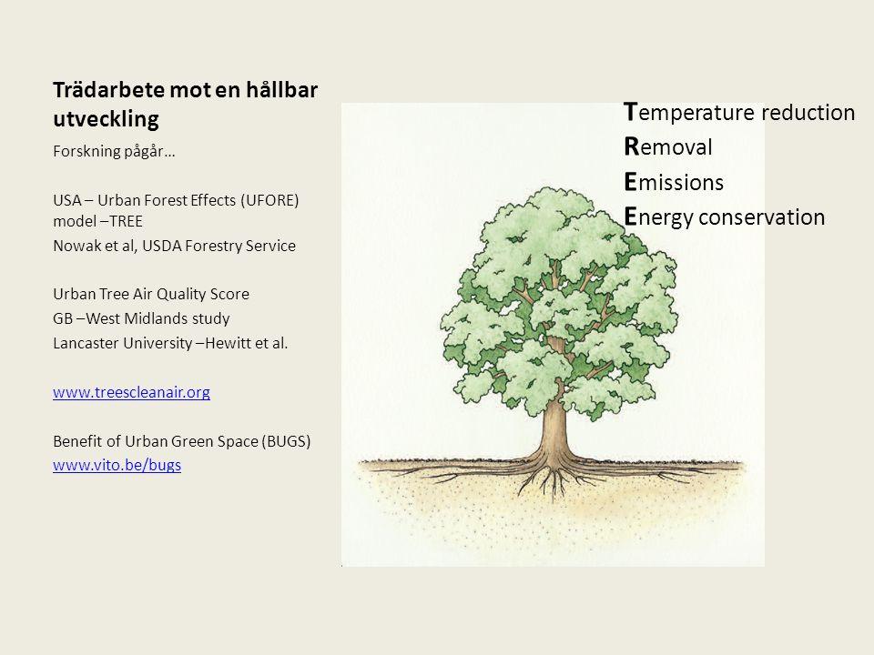 Trädarbete mot en hållbar utveckling