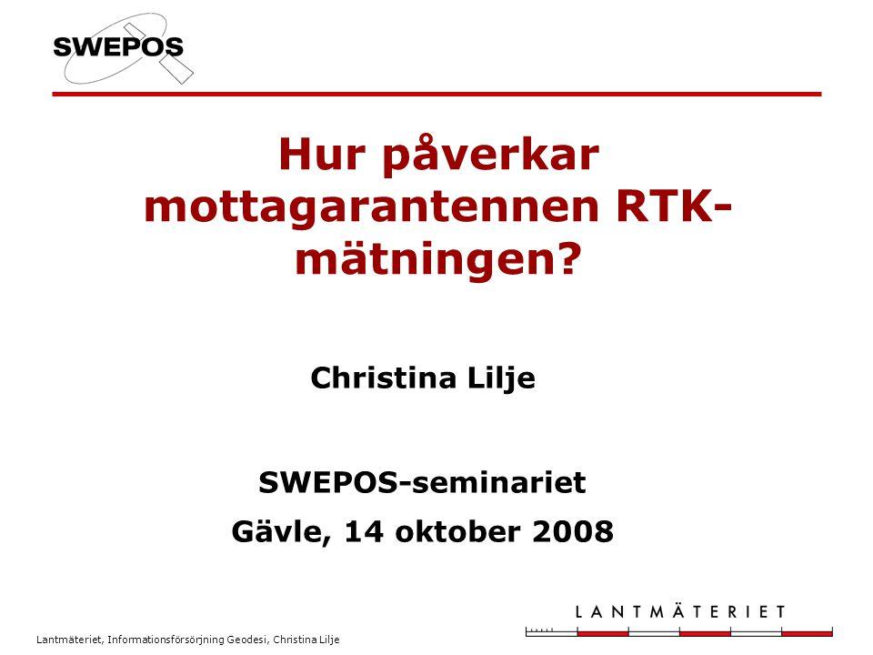 Hur påverkar mottagarantennen RTK-mätningen