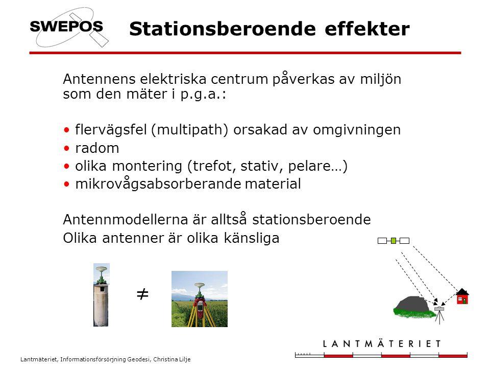 Stationsberoende effekter