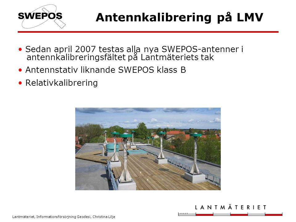 Antennkalibrering på LMV