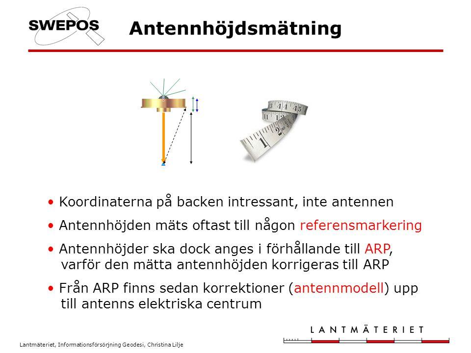 Antennhöjdsmätning Koordinaterna på backen intressant, inte antennen