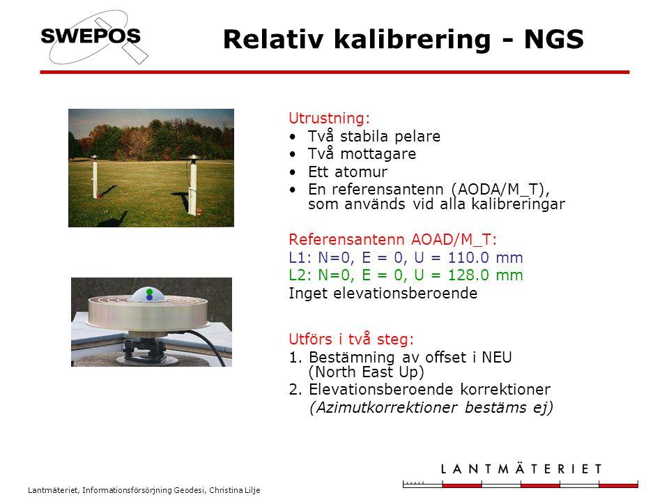 Relativ kalibrering - NGS