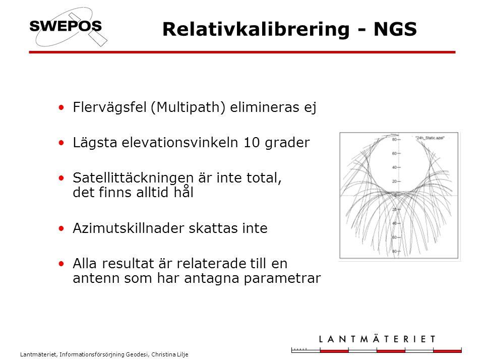 Relativkalibrering - NGS