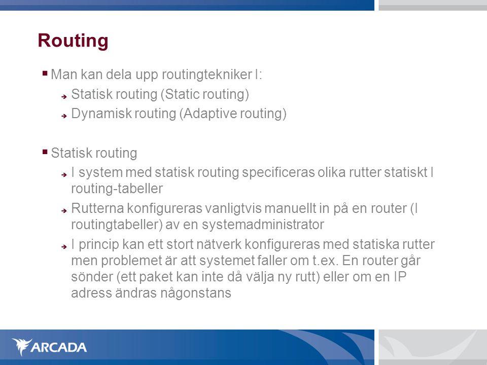 Routing Man kan dela upp routingtekniker I: