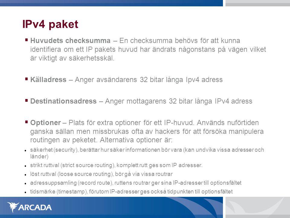 IPv4 paket