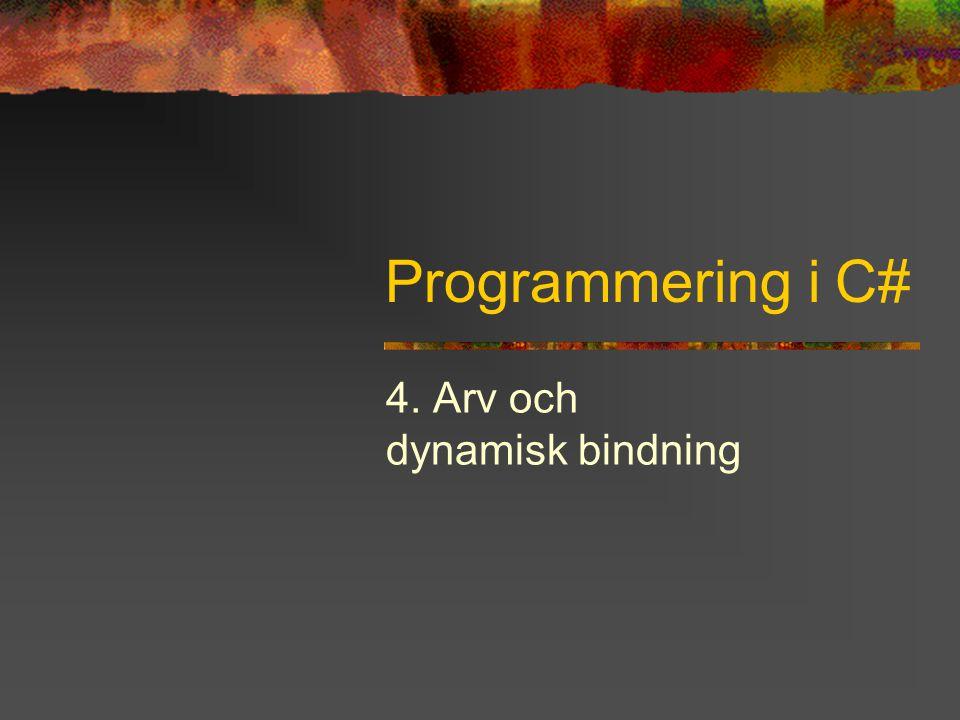 4. Arv och dynamisk bindning