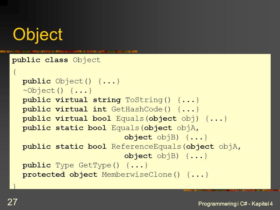 Object public class Object