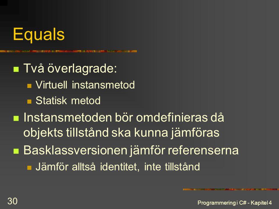 Equals Två överlagrade: