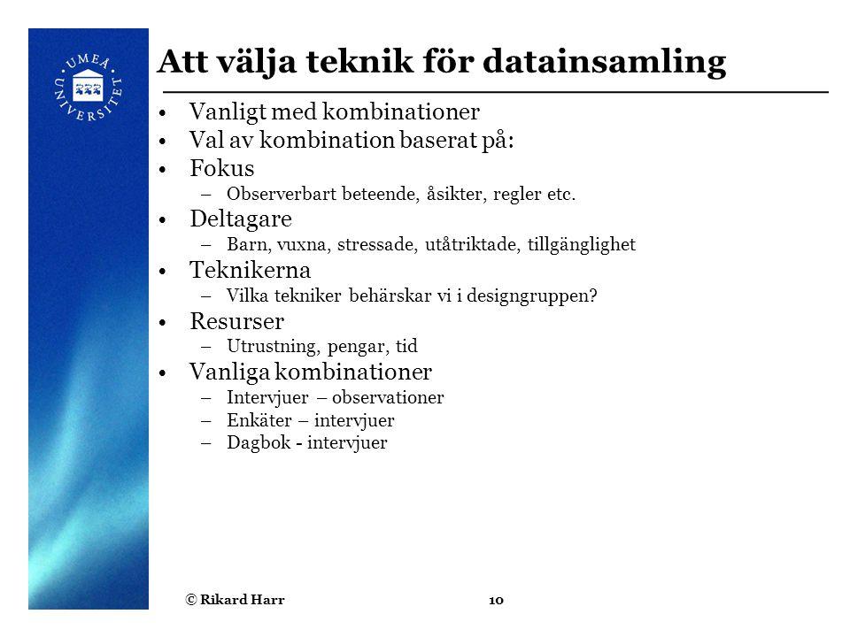 Att välja teknik för datainsamling