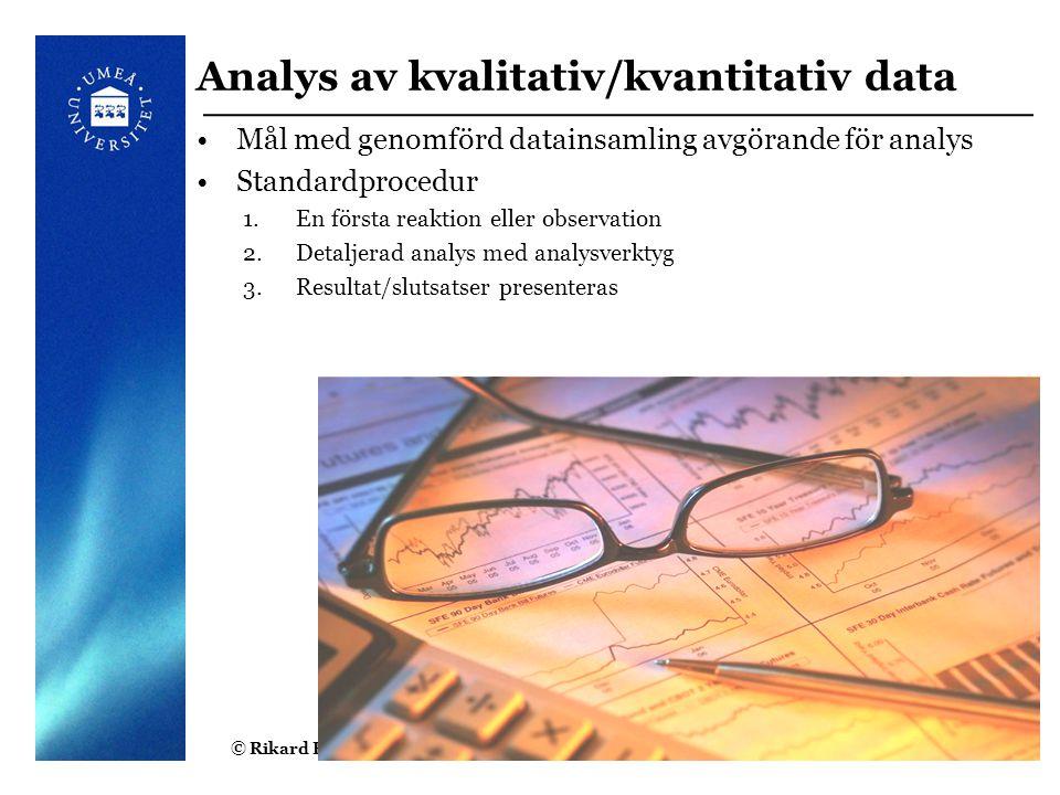 Analys av kvalitativ/kvantitativ data