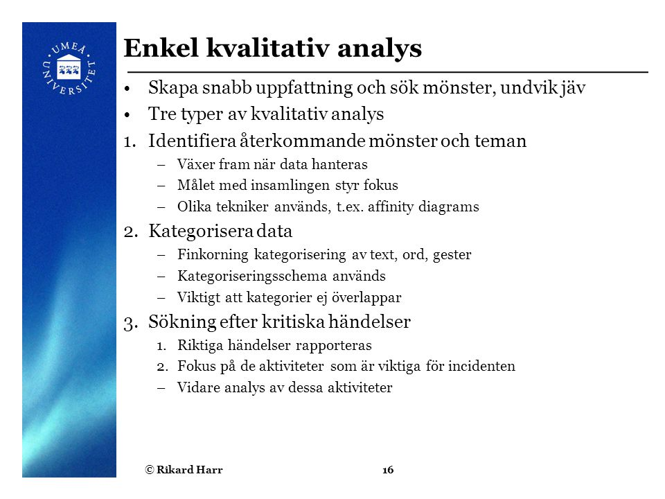 Enkel kvalitativ analys