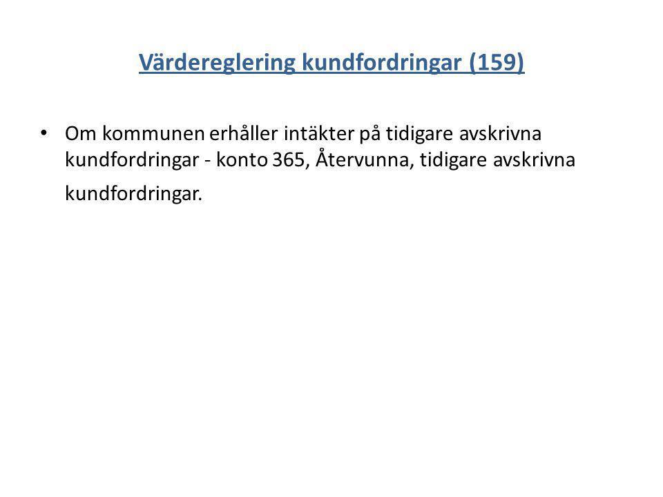 Värdereglering kundfordringar (159)
