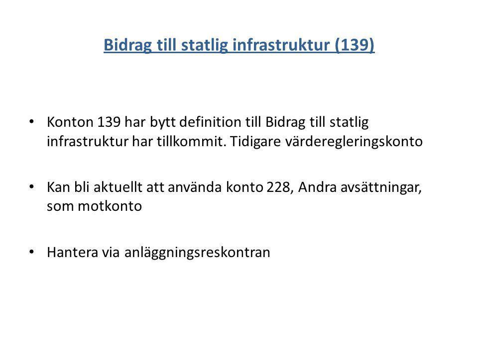 Bidrag till statlig infrastruktur (139)