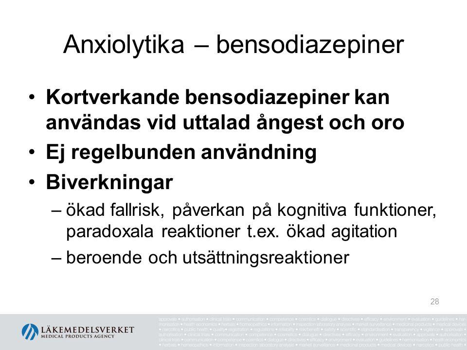 Anxiolytika – bensodiazepiner