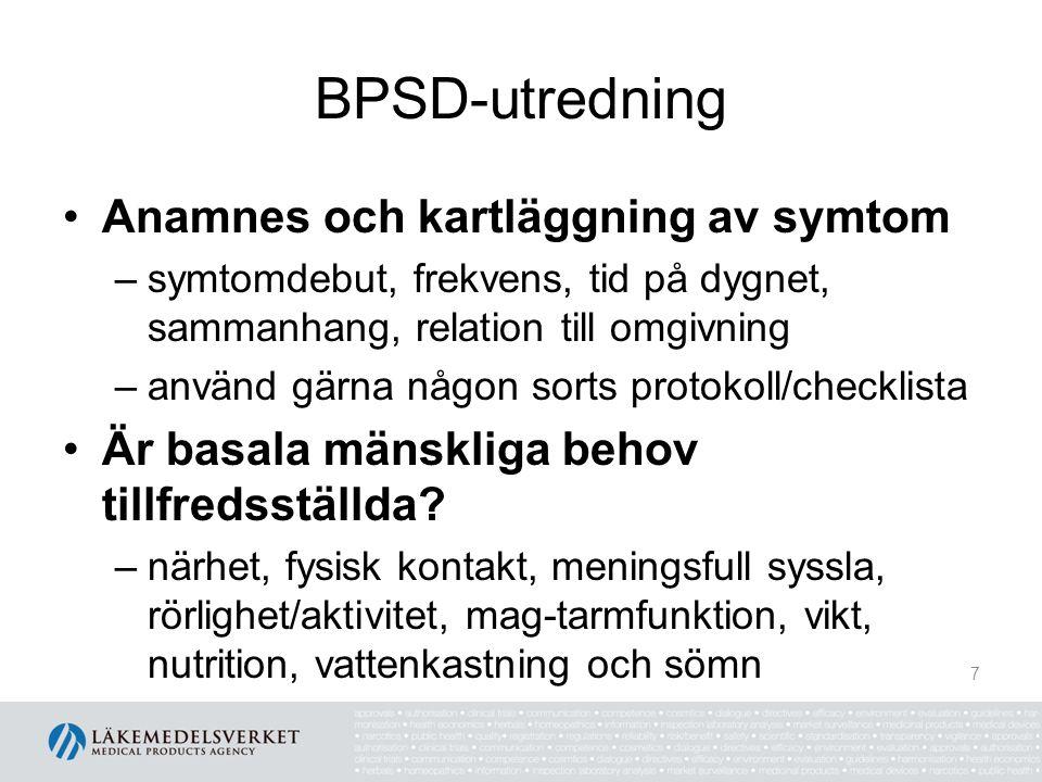BPSD-utredning Anamnes och kartläggning av symtom