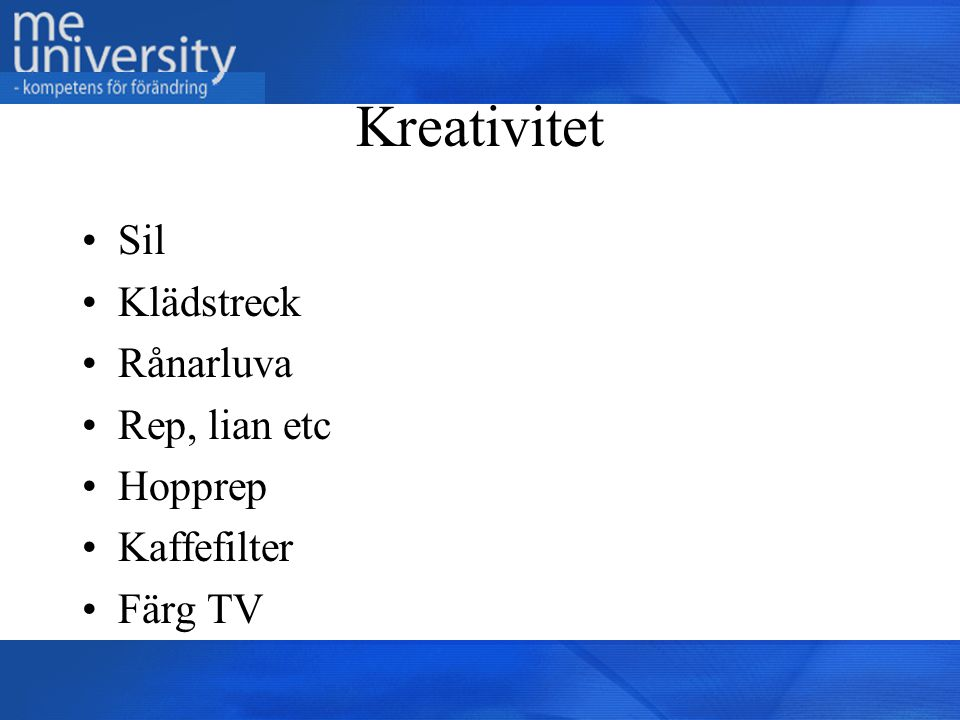 Kreativitet Sil Klädstreck Rånarluva Rep, lian etc Hopprep Kaffefilter