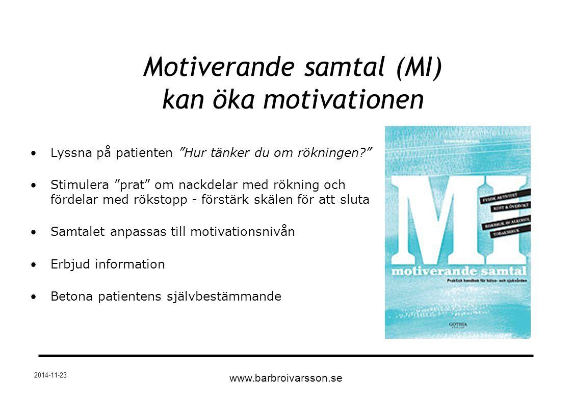 Motiverande samtal (MI) kan öka motivationen