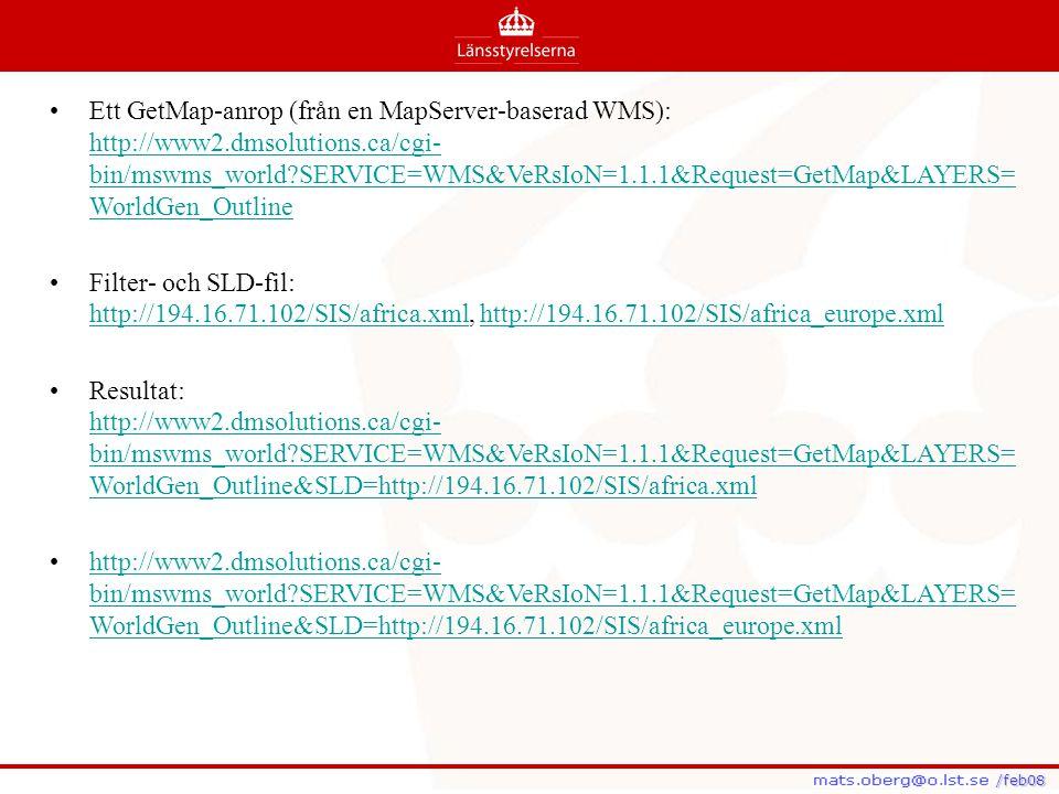 Ett GetMap-anrop (från en MapServer-baserad WMS): http://www2