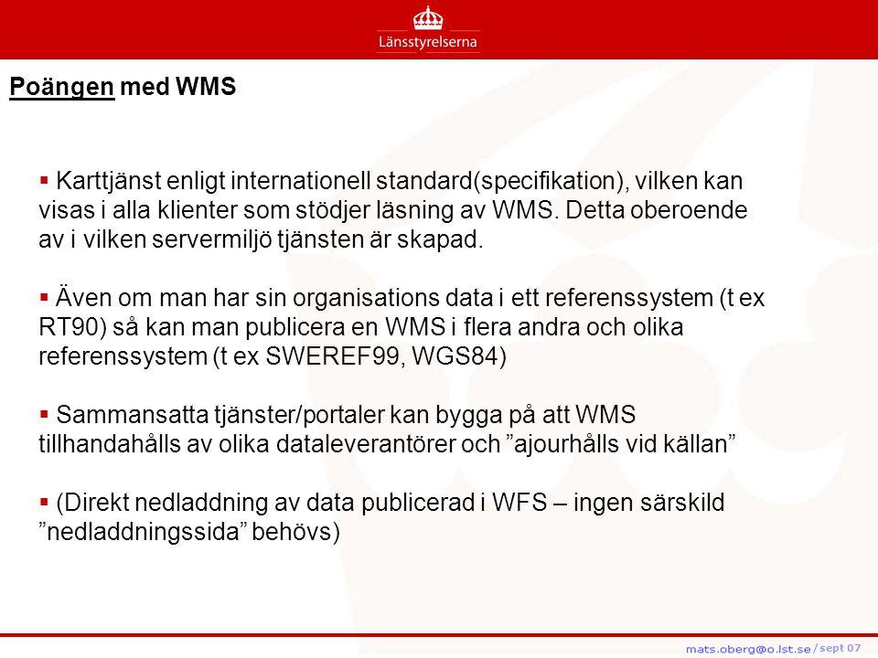 Poängen med WMS