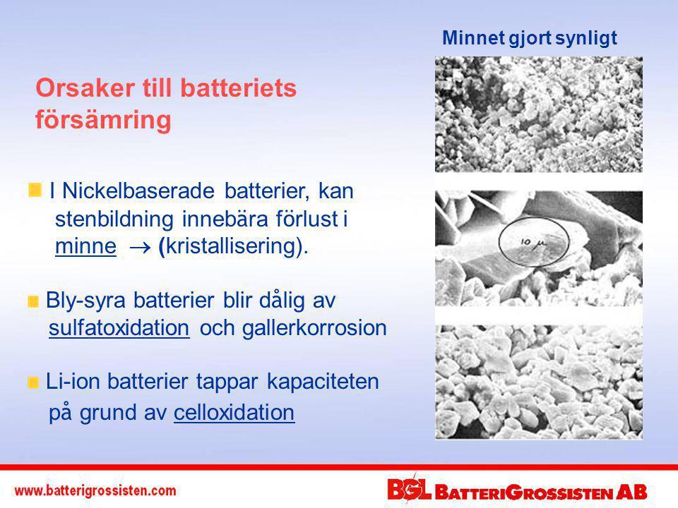 Orsaker till batteriets försämring