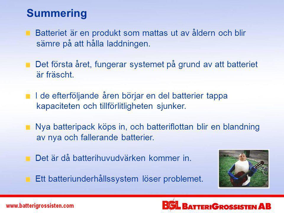 Summering Batteriet är en produkt som mattas ut av åldern och blir sämre på att hålla laddningen.