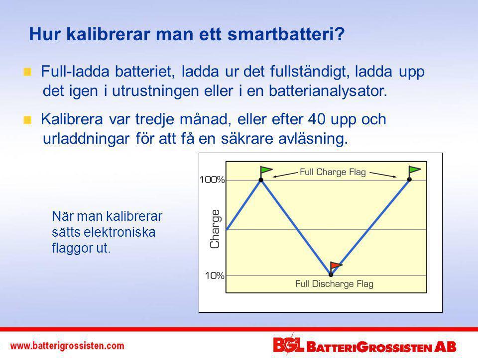 Hur kalibrerar man ett smartbatteri