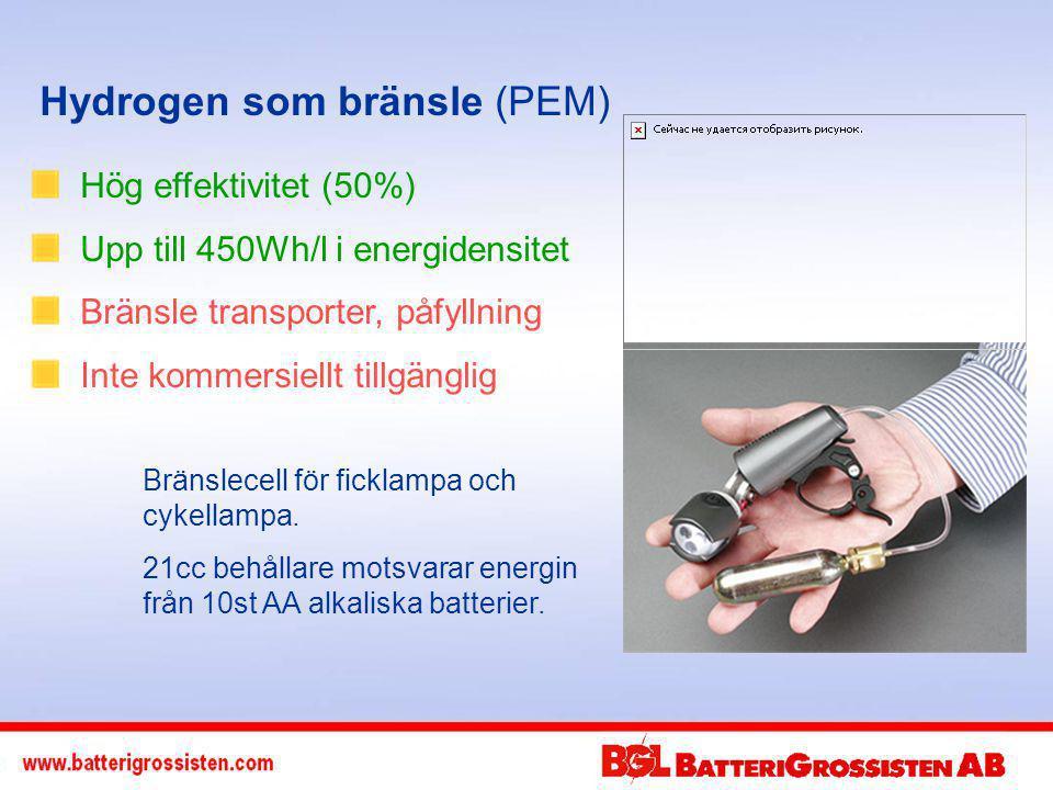 Hydrogen som bränsle (PEM)