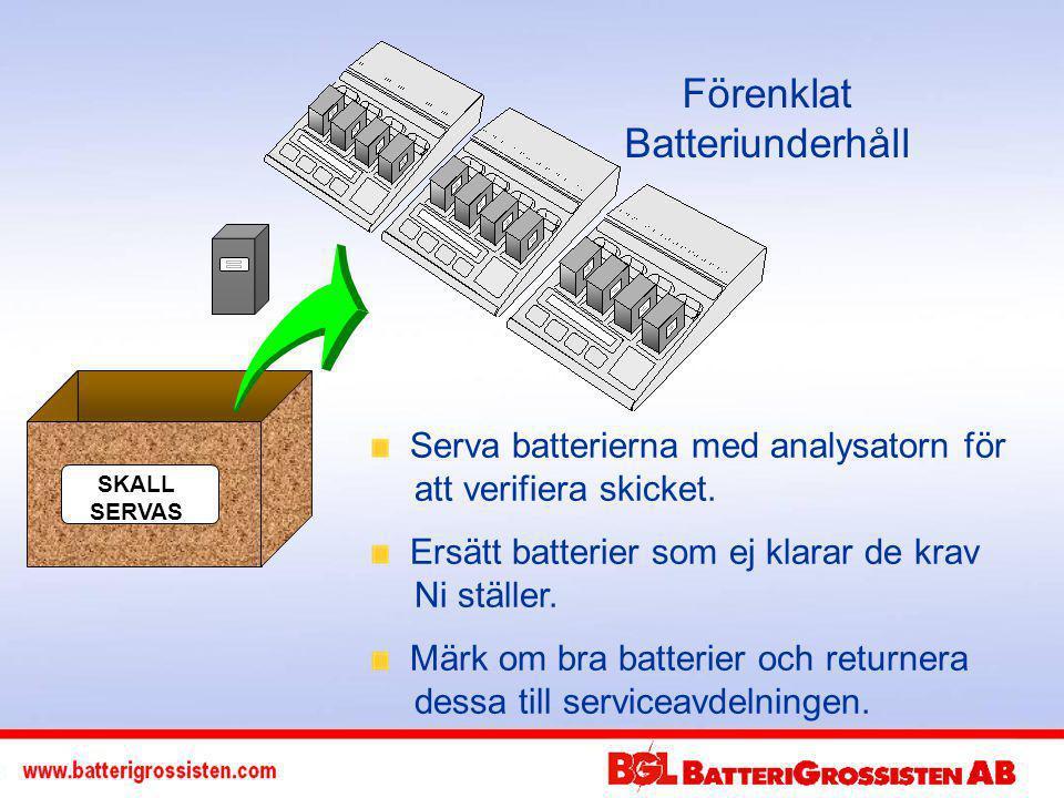 Förenklat Batteriunderhåll