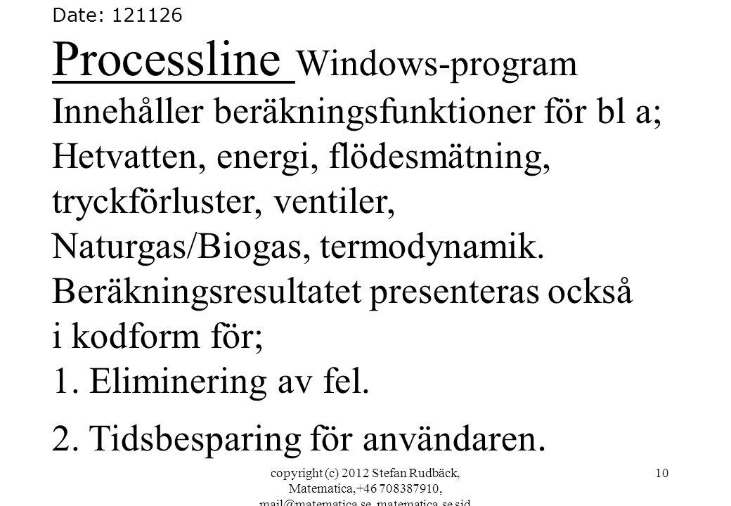 Processline Windows-program