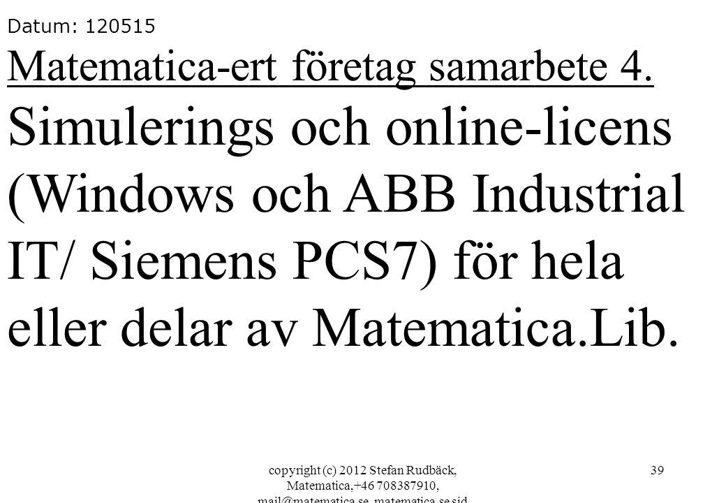 Simulerings och online-licens