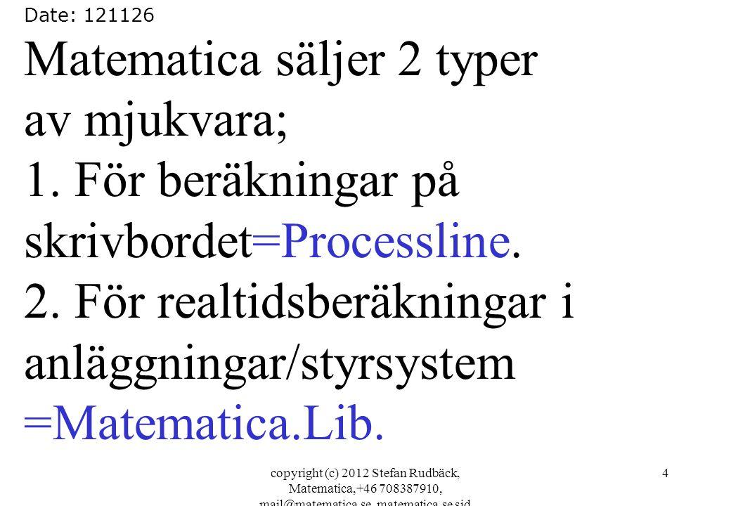Matematica säljer 2 typer av mjukvara;