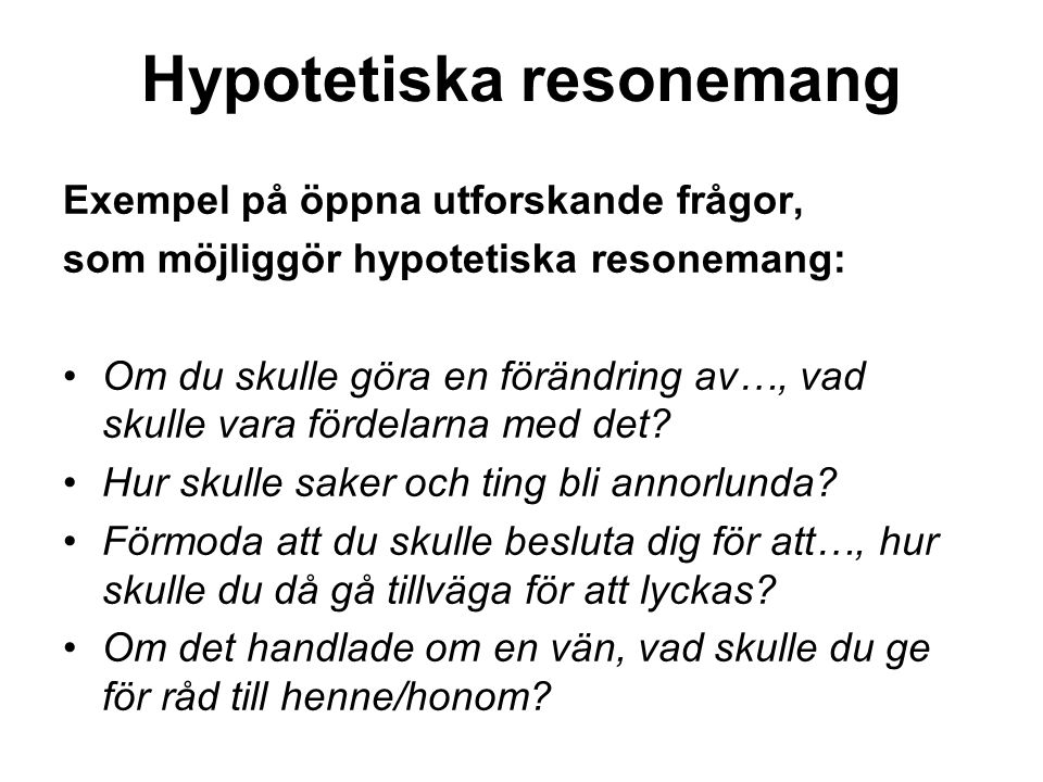 Hypotetiska resonemang