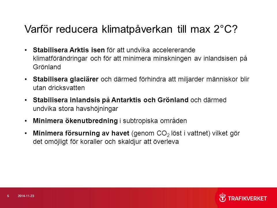 Varför reducera klimatpåverkan till max 2°C