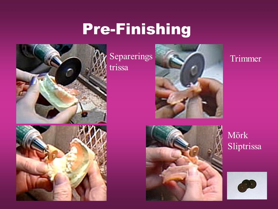 Pre-Finishing Separerings trissa Trimmer Mörk Sliptrissa