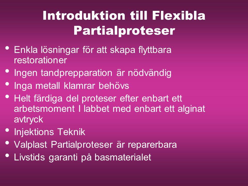 Introduktion till Flexibla Partialproteser