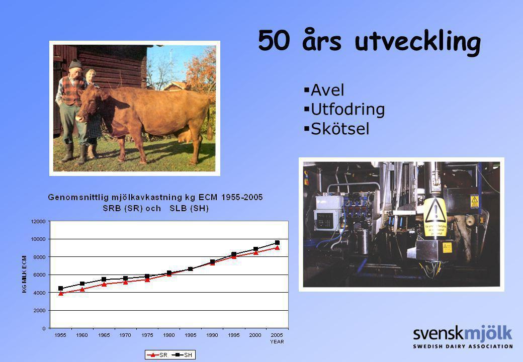 50 års utveckling Avel Utfodring Skötsel