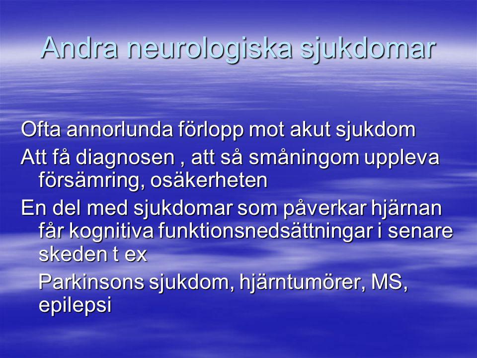 Andra neurologiska sjukdomar
