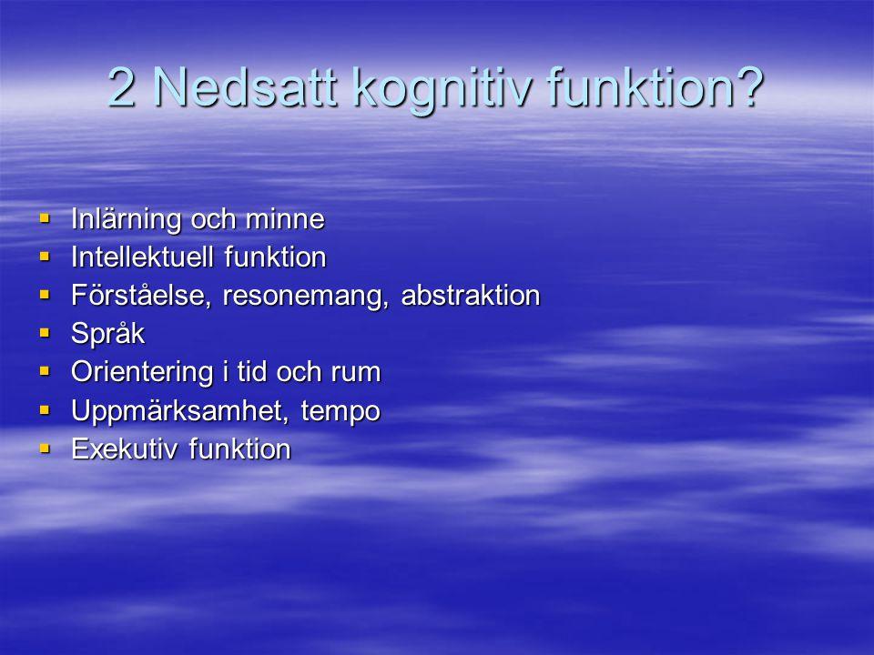 2 Nedsatt kognitiv funktion